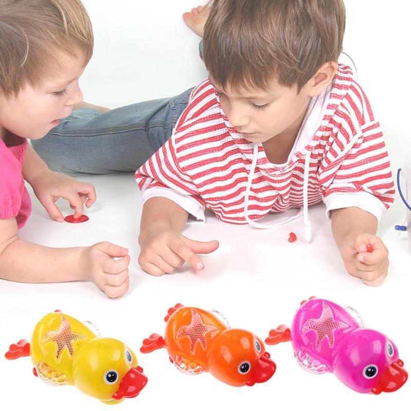 New Plastic Electric Duck Toy Imitate Swimming Sound Light Ducks Children Gift