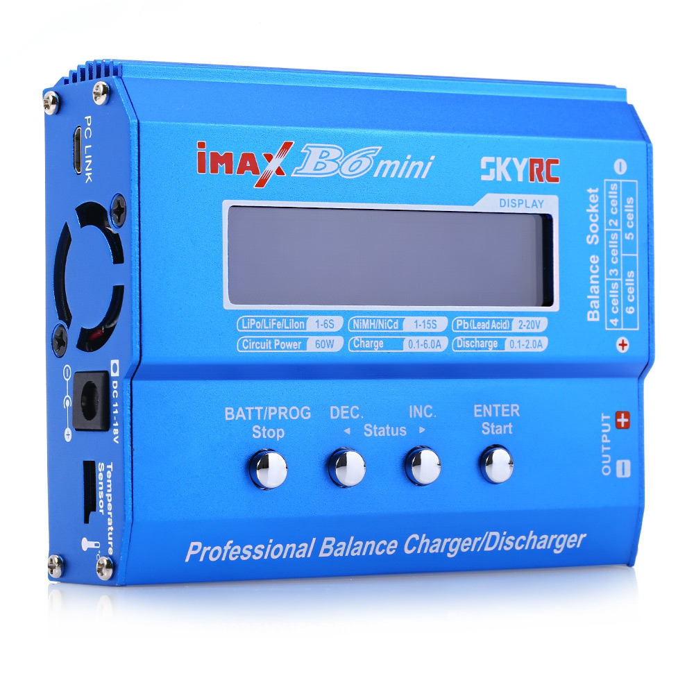 Original SKYRC IMAX B6 MINI Aircraft Balance Charger Discharger For RC Helicopter Battery Charging Re-peak mode for NIMH/NICD ocday 1set imax b6 lipo nimh li ion ni cd rc battery balance digital charger discharger new sale