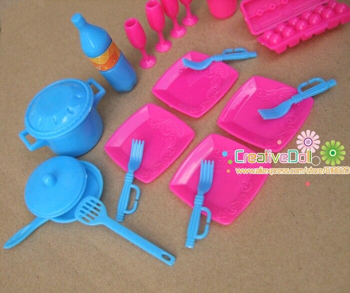 Gratis Pengiriman Bermain Anak Anak Rumah Mainan Hidangan Pan Panci Dapur Memasak Kit Untuk Boneka Barbie For Barbie For Barbie Dollkit Barbie Aliexpress