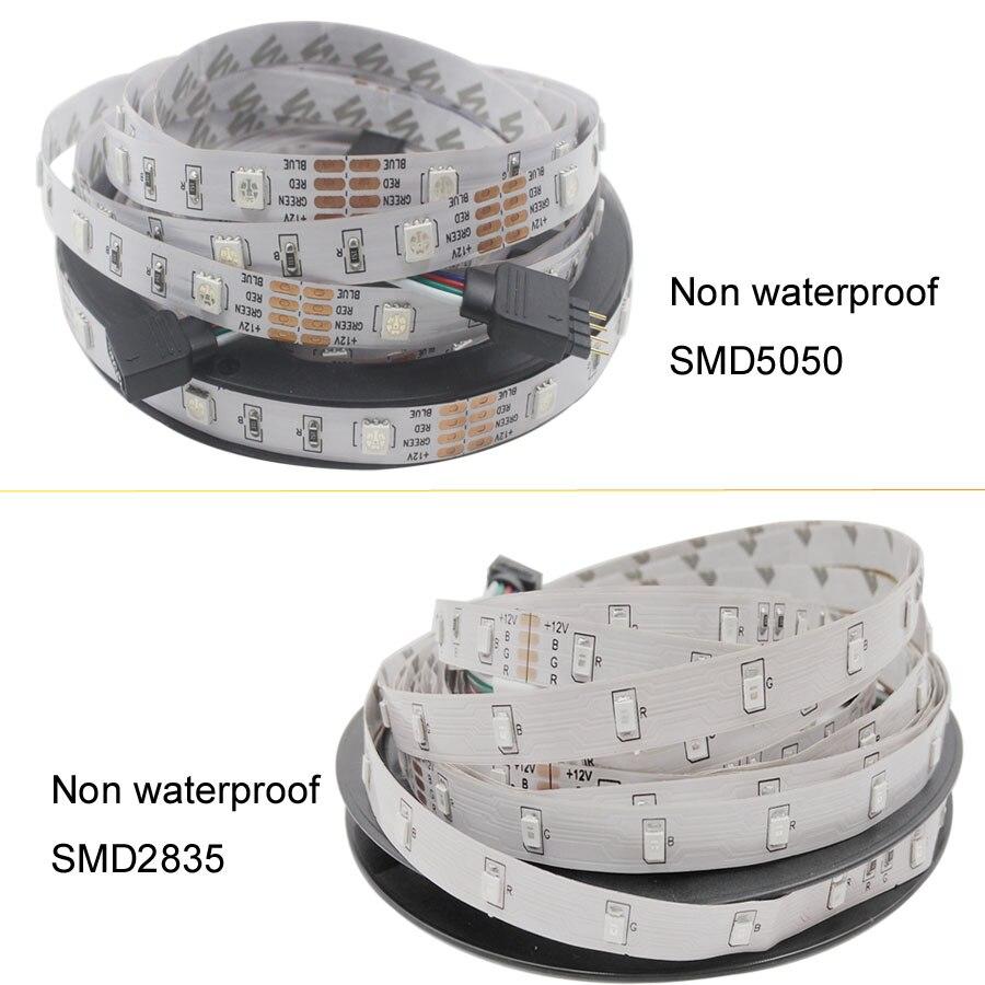 5m 10m 15m WiFi LED Strip Light RGB Waterproof SMD 5050 2835 DC12V rgb String Diode 5m 10m 15m WiFi LED Strip Light RGB Waterproof SMD 5050 2835 DC12V rgb String Diode Flexible Ribbon WiFi Contoller+Adapter plug