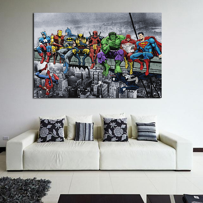 The Avengers Poster Infinity War Super heroes Marvel Comics Movie Canvas Prints Wall Art Picture Home Room Decor