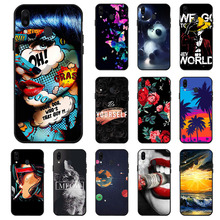 Ojeleye Fashion Black Silicon Case For Samsung Galaxy M20 Cases Anti-knock Phone Cover For Samsung M20 M205 Covers caso m20 easy black