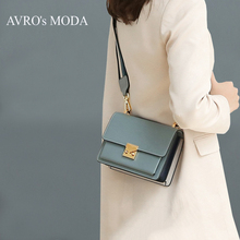 цены AVRO's MODA Brand genuine leather shoulder bags for women 2019 luxury handbags women crossbody bags small square messenger bags