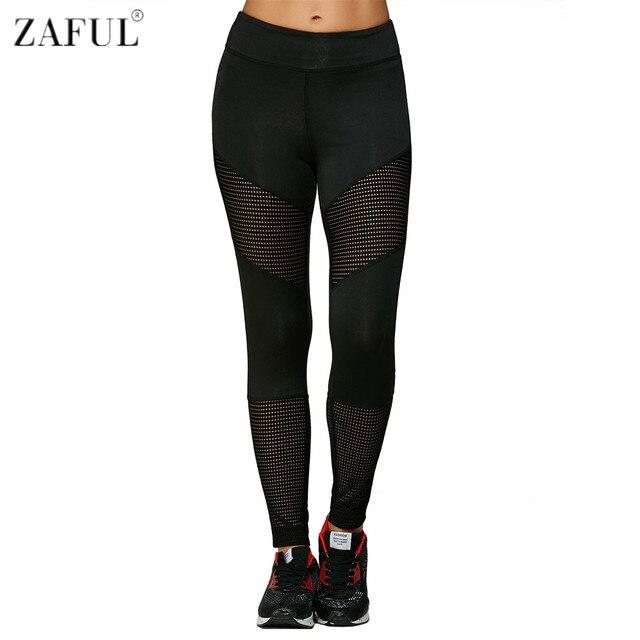 ZAFUL 2017 nueva mujer deportes Yoga pantalones Jogging Gym Running  ejercicio Fitness ropa deportiva pantalones agujero 47695d7c550f