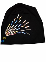 B 17814 Fashion 100 Cotton Good Stretch Water Droplets Crystal Beanies Colors Crystals Flower Hat Solid