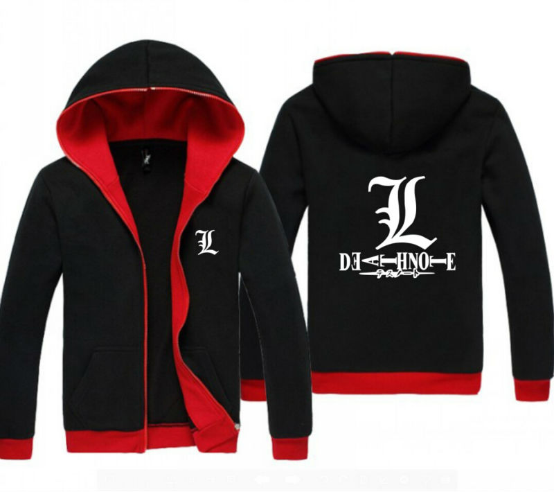 Online Shop NEW Anime DEATH NOTE Red and Black Clothing Casual Sweatshirt  Hoodie Unisex Coat Jacket | Aliexpress Mobile