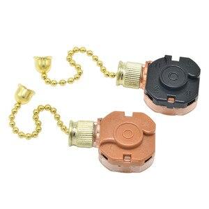 Image 3 - Interruptor del ventilador de techo, con 3 velocidades y sin parada, interruptor de cadena de tracción, 4 cuerdas, luz de ventilador de techo, interruptor de cremallera de regulación de velocidad, 1 unidad