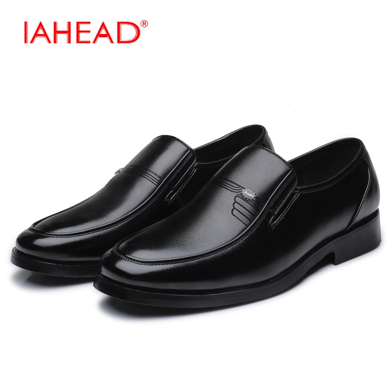 2017 Autumn Men Business Genuine Leather Casual Shoes High Quality Lace-Up Cow Leather Dress Shoes Puls Size 38-48  MU550 men s dress shoes mens formal cow leather shoes high quality business oxford genuine leather soft casual lace up flats shoes
