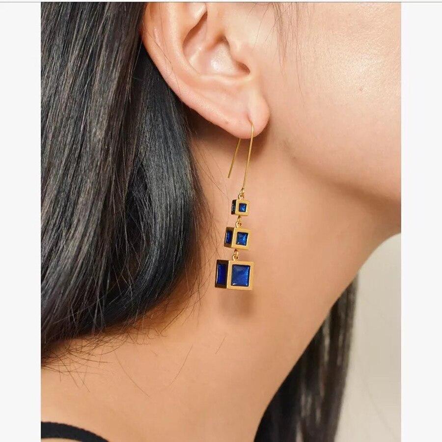Designer Jewelry Fashion Vintage Tassel Earrings High Quality Gold Silver Dangle Earrings For Women Luxury Brand Bijoux