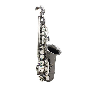 Image 1 - Professional Brass Bend Eb E flat Alto Saxophone Sax Black Nickel Plating Abalone Shell Keys with Carrying Case