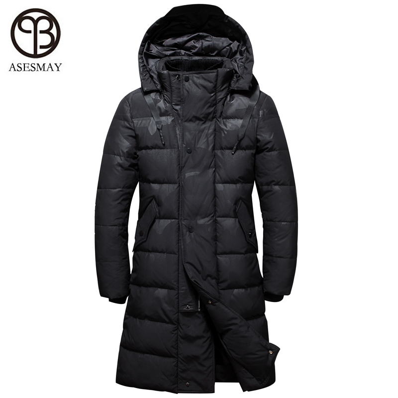 e3b2056c9 Asesmay 2018 New Men Down Jacket Men Winter Coat Mens Parka Thick Warm Long  Hooded Brand High Quality Snow Outwear Free Shipping