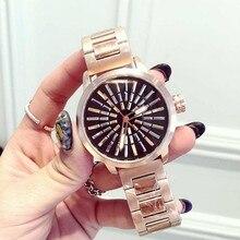 2016 Famosa Marca de Moda de Lujo Ocasional de Las Mujeres Señoras de Los Relojes de Oro de calidad superior de Pulsera Reloj Mujer Montre Femme reloj mujer