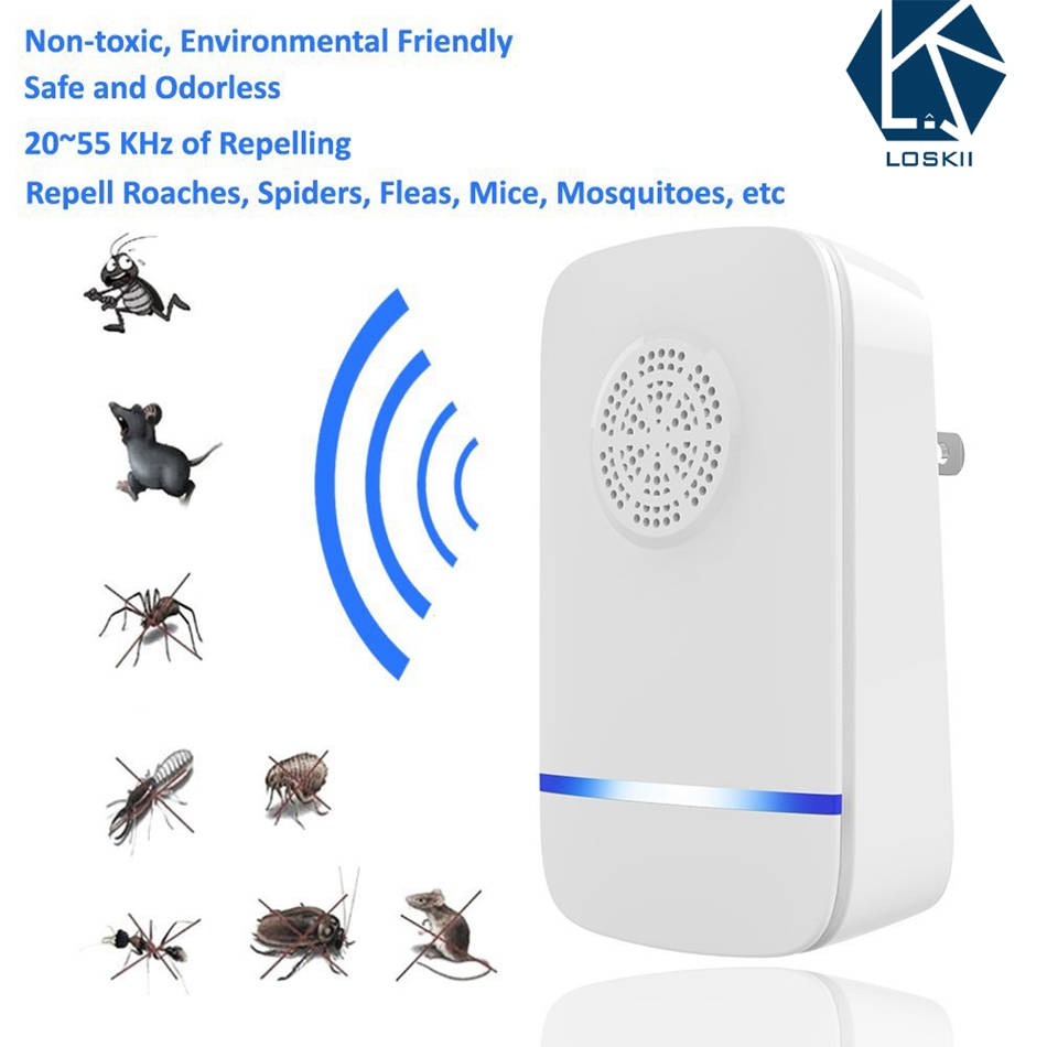 Ultrasonic Pest Repeller Electronic Pests Control Repel Mouse Bed Bugs Mosquitoes Roaches Killer Non-toxic Eco-Friendly Home