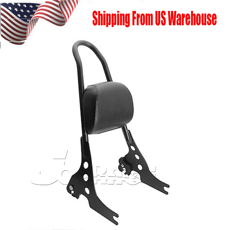 Passenger Backrest Pad Sissy Bar Cushion For Harley Sportster XL 883 1200 Black 5bk 2cl large capacity ink cartridge compatible pg 540 cl 541 pg540 cl541 for canon mg2150 mg2250 mg3150 mg3200 mg3550 printer