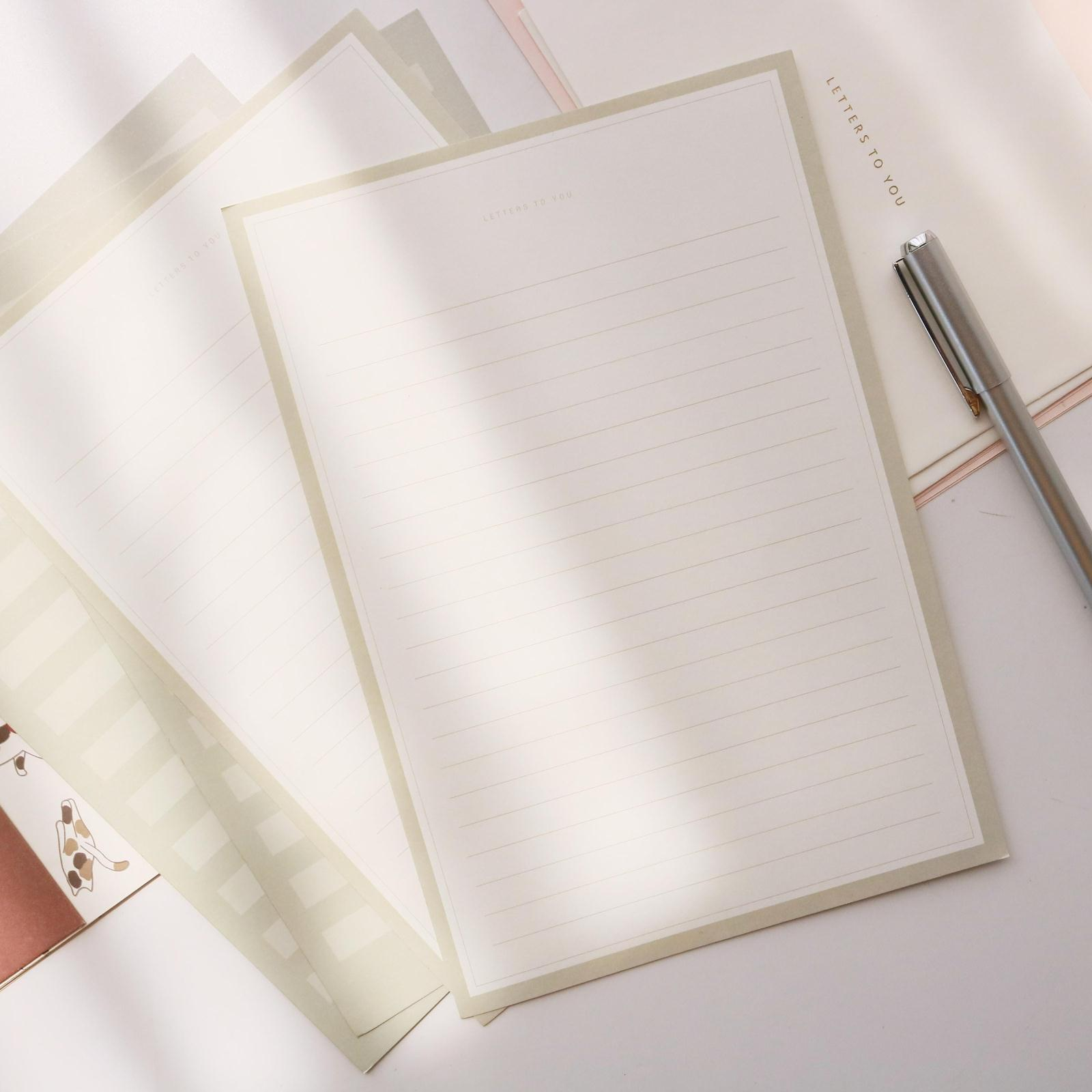 2 envelopes and 4 letter papers writing paper envelope set cute