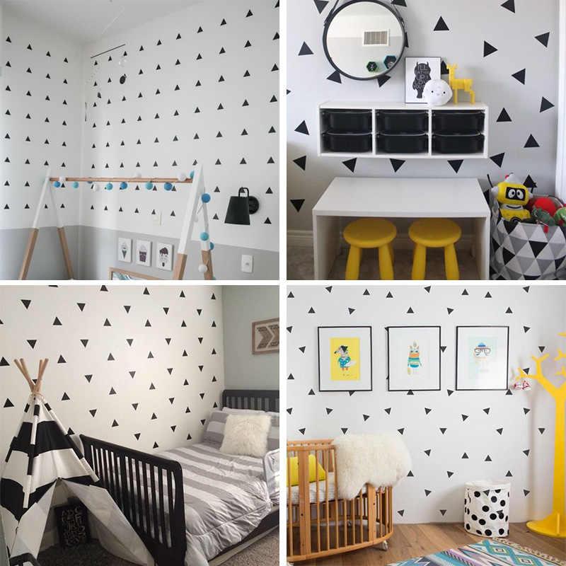 Детская комната для мальчиков маленькие треугольники стикер на стену для украшения для детской комнаты стикер s детская спальня, детская комната Наклейка на стену стикер s