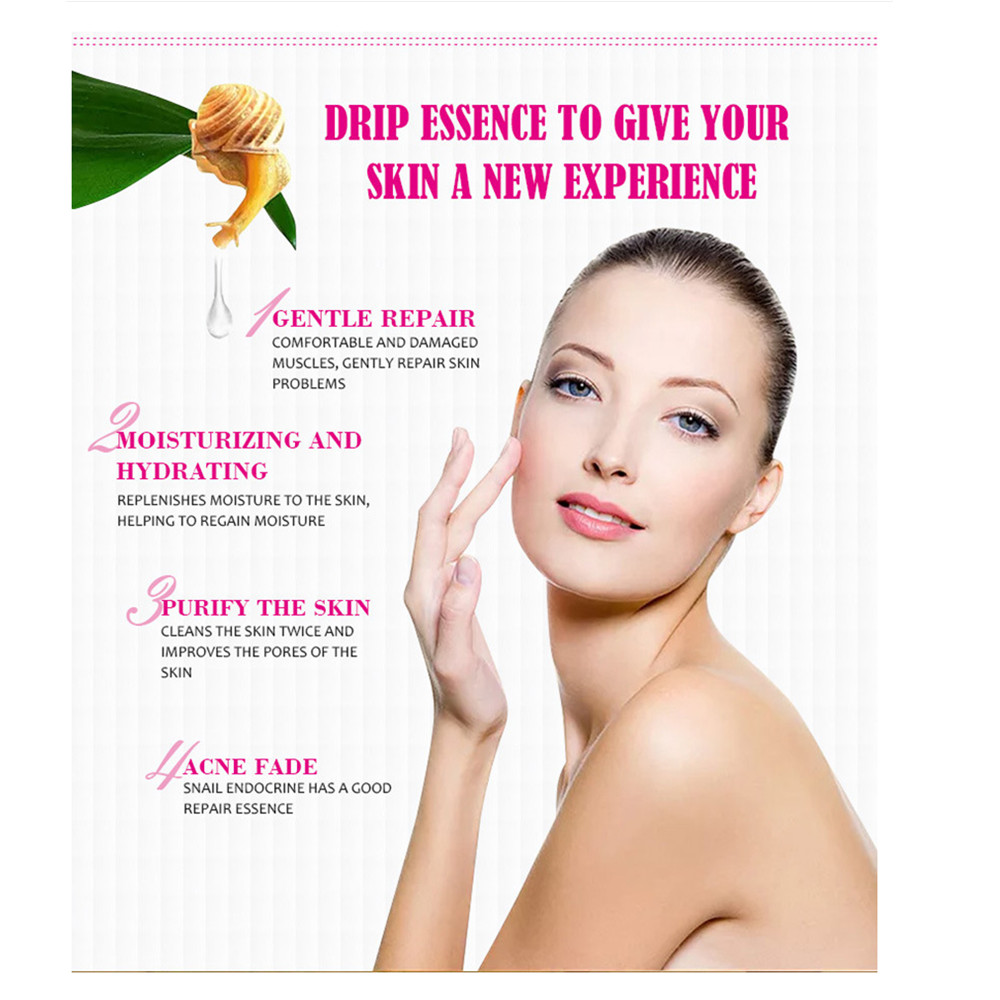 Anti wrinkle and freckle facial soap Handmade snail protein acid Non additive cleanser Whitening Shrinkage pore water in Soap from Beauty Health