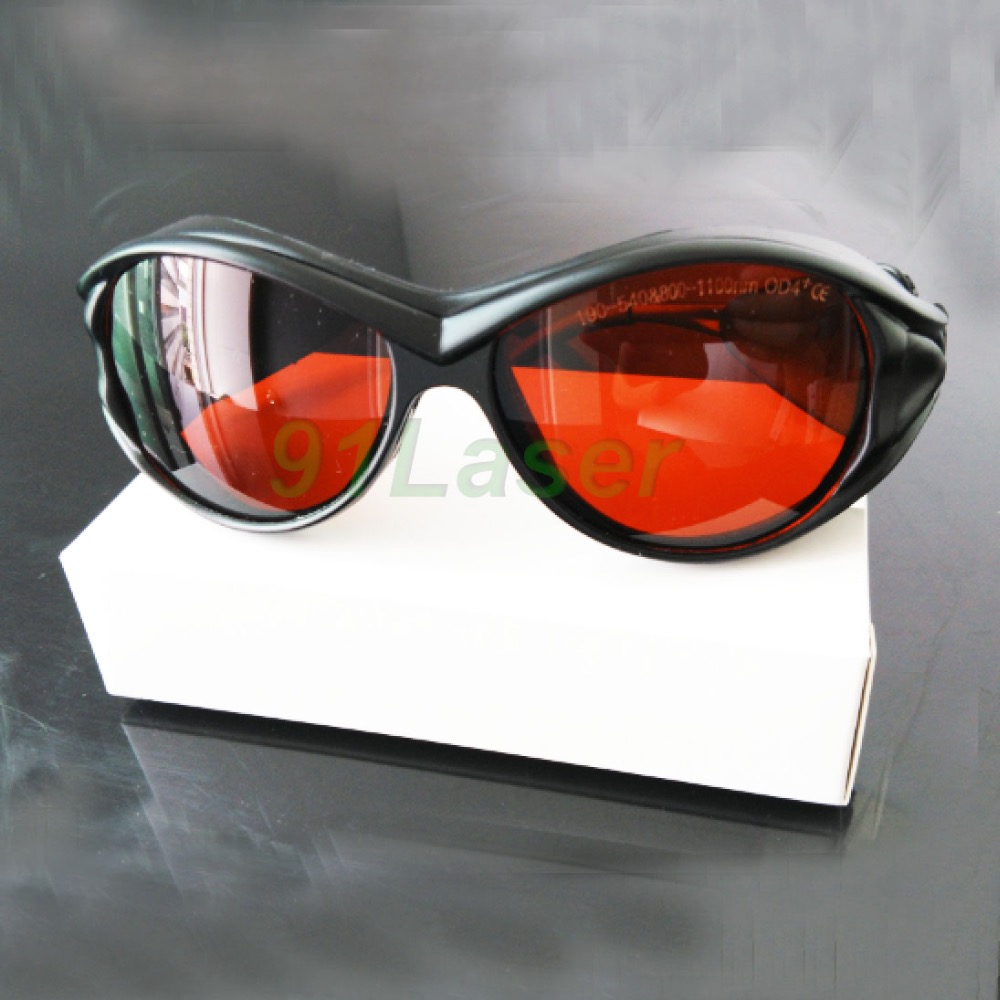 ФОТО Multi-wavelengths laser  glasses for 190-540nm and 800-1100nm, O.D 4+ for 266 405 445 450 473 514 520 532 808 980 1064nm lasers.