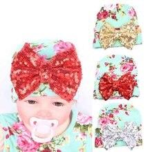 Nouveau-né Paillettes Bowknot L hôpital bébé casquettes pour garçons 0-3  mois coton Bébé Garçon Fille Casquettes Fotografia Nouv. 80c35cb3443