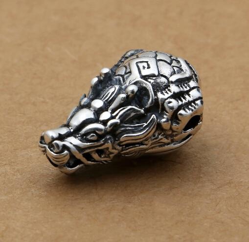 Handmade 925 Silver Dragon Guru Bead Pure Silver Tibetan Mala's Guru Buddhist Prayer Beads Guru Bead