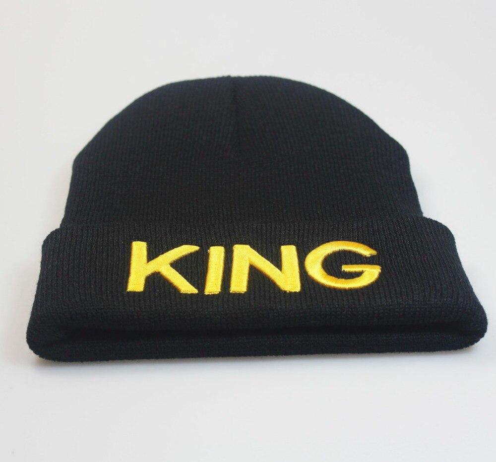 KING QUEEN Beanies skullies Hats Winter Warm caps Bone High Quality Hip Hop Gorros For Men Women 6 colors