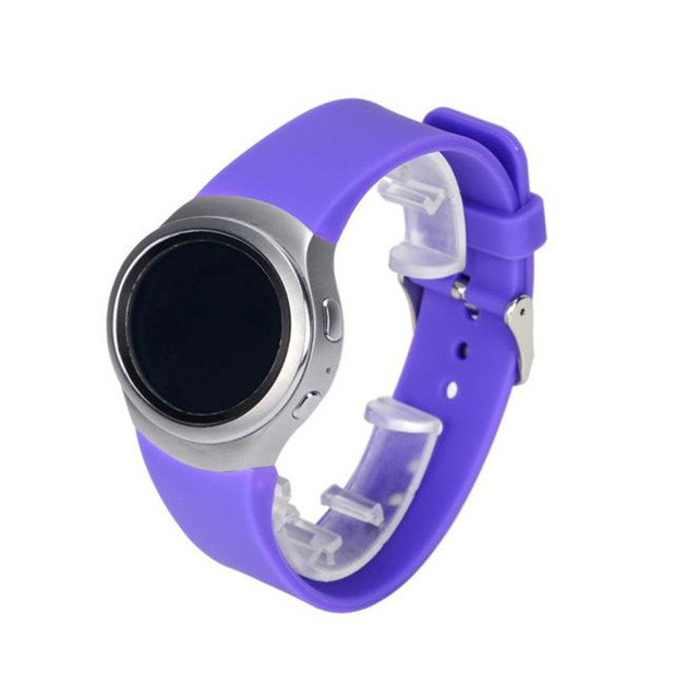 Fashion Luxury Women Men Silicone Watch Band Strap For Samsung Galaxy Gear S2 SM-R720 Sport Watches