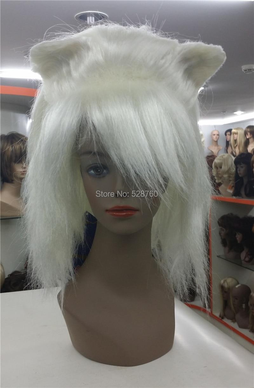 ФОТО Ahri, the Nine-Tailed Fox cosplay wig, blonde Nine-Tailed Fox wigs Free shipping