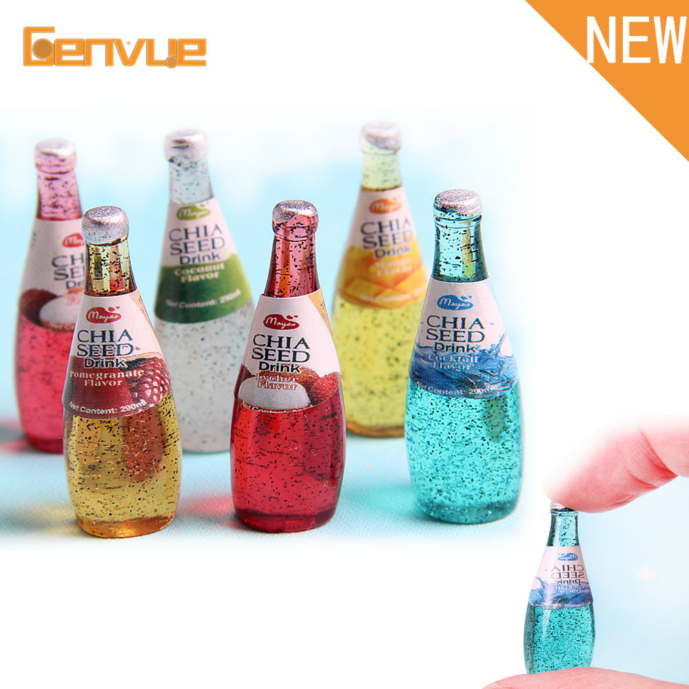 2 Pcs Mini Beer Bottle Bead Slime Charms Filling Addition For Clay Material Hand Made Resin Beverage Bottle Slime Accessories
