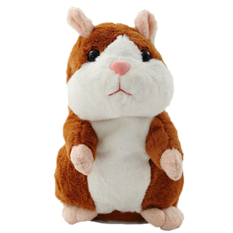 15CM Talking Hamster Mouse Pet Plush Toy Learn To Speak Electric Record Hamster Educational Children Stuffed Toys Gift WJ494