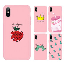 New Pink Pattern case For Huawei Nova 2i Mate 20 10 Lite Pro P smart Plus 2019 Cute phone case Cartoon Animal Crown TPU Cover(China)