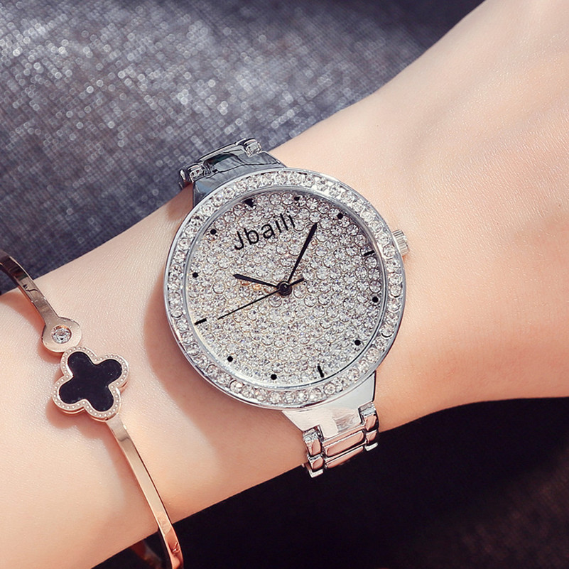 Ladies Fashion Quartz Watch Women Rhinestone Steel Casual Dress Women's Watch Rose Gold Clock Hodinky reloje mujer montre femme tezer ladies fashion quartz watch women leather casual dress watches rose gold crystal relojes mujer montre femme ab2004