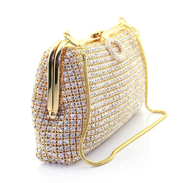 Gold Crystal Evening Clutch Bag Cheaper Rhinestones Bridal Party Purse  Boutique Evening bag Shoulder bags Handbags Clutches-in Top-Handle Bags  from Luggage ... 28607780e2bd