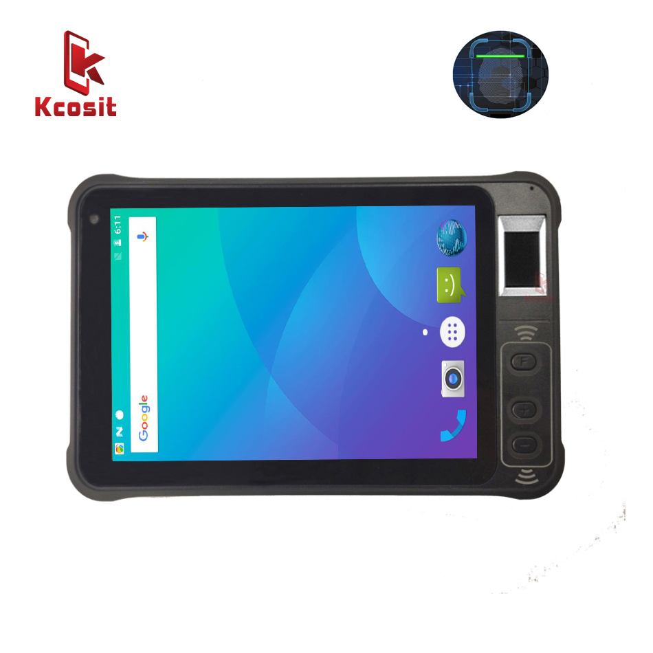Планшет KT75 с контролем доступа и распознаванием отпечатков пальцев, Android 8,1, UHF, RFID, водонепроницаемый, 7 дюймов, 1280x800, 2D, сканер штрих кодов, PDA,