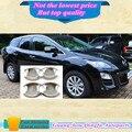Alta calidad cuerpo stying coche cubierta detector externo palos marco de la lámpara ABS ajuste del cromo única puerta tazón para MAZDA cx7 cx-7 4 unids