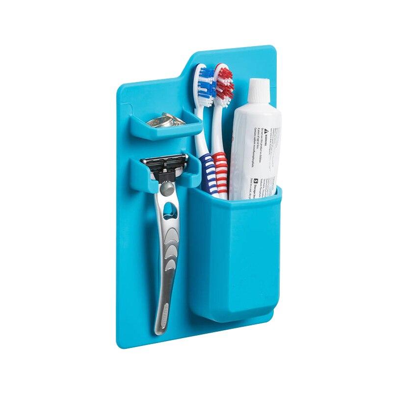 JILIDA Silikon Zahnbürstenhalter Bad Produkt Startseite Organizer Mighty Zahnpasta Halter Für Bad Dusche Schmuck