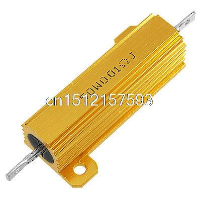 0.01 Ohm 5% 50 Watt Screw Tab Wire Wound Aluminum Case Resistor 100w 300 ohm 5% aluminum screw tabs resistor gold tone