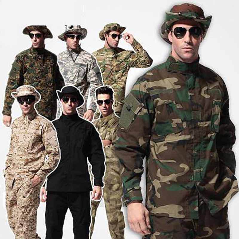 9 colors !! Camouflage suit sets Army Military uniform combat Airsoft uniform jacket + pants Army uniform camouflage suit sets army military uniform combat airsoft war game uniform jacket pants uniform