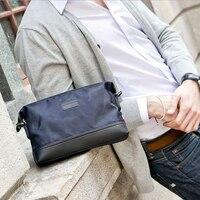 2016 г. мужские нейлон небольшую сумку мужской клатч повседневные модные сумки на плечо бизнес Креста тела Сумки Многофункциональный