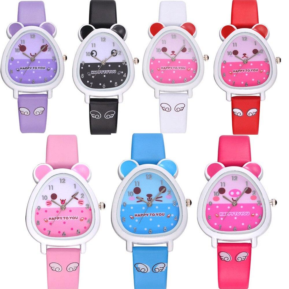 DISU Boy And Girl Wristwatch Lovely Animal Design Quartz Watches For Children Cartoon Watches For Girls Child Watch