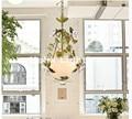 Скандинавский подвесной светильник  светодиодные Цветочные светильники  розовые цветы  цветной абажур  люстры  LED E14 люстры De Cristal  подвесной...