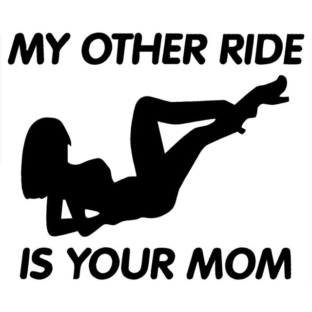 15 2cm12 7cm my other ride is your mom decal truck car import funny