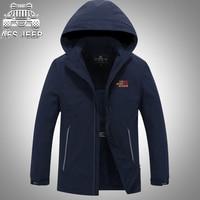 Plus Size 4XL Hooded Mens Jackets And Coats Spring Autumn New 2017 Thin Chaqueta Hombre Aeronautica