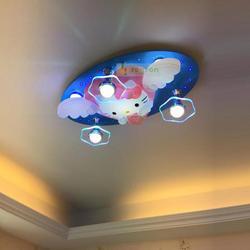Dla dzieci Hello Kitty oświetlenie sufitowe kreatywny oszczędność energii Led lampa sufitowa nabłyszczania lampy dla dzieci sypialnia dla dzieci oświetlenie