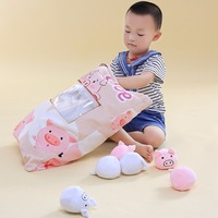Funny 1bag Plush Toys Stuffed Animals With 8pcs Small pigs rabbits Toy Kids Christmas Gift