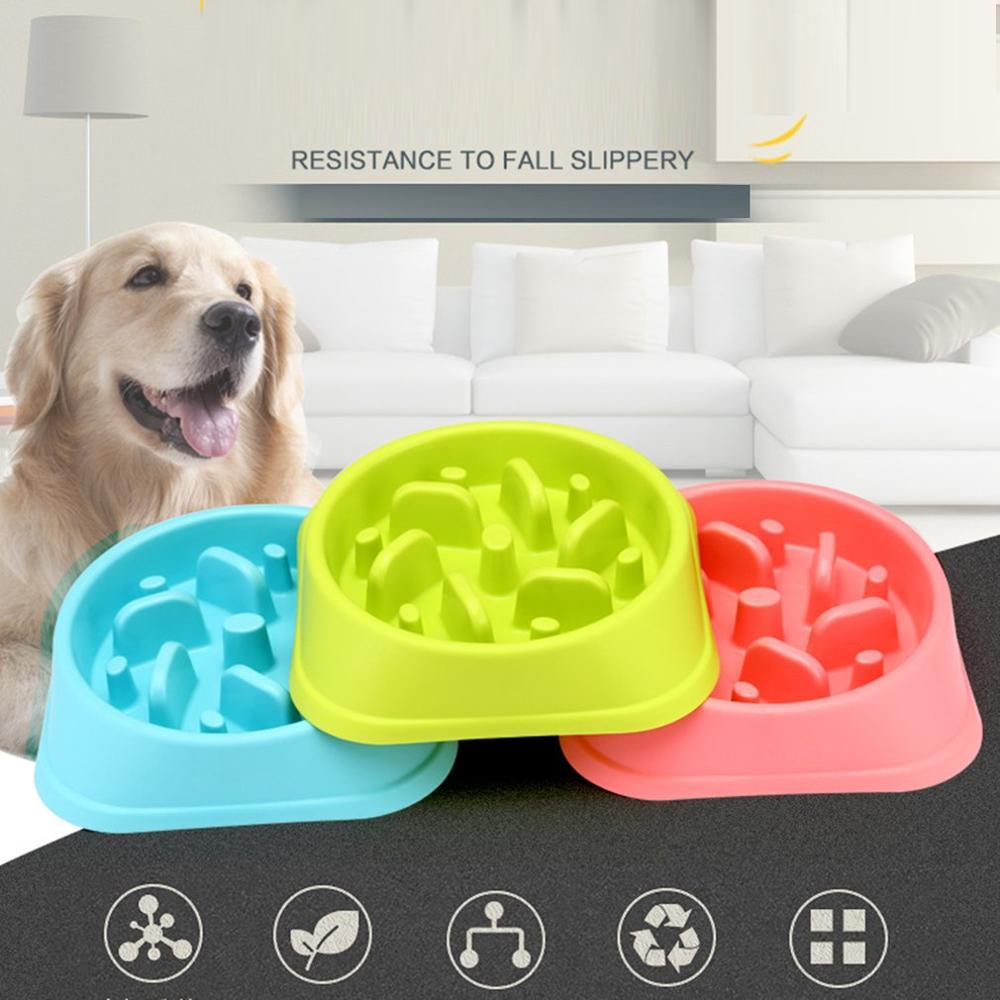Slow Feeder Bowl Pet Slippery Anti-smashing Dog Bowl Flood Prevention Bowl Pet Bowl Pet Supplies Accessories