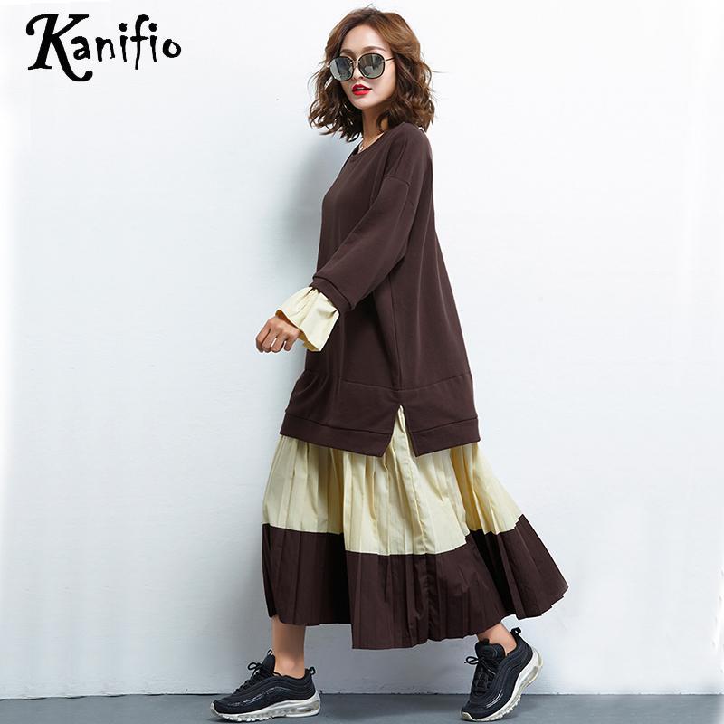 Robes Vestidios Deux 4xl Faux Noir Pièces Dames Mode Tuniques Plus Femmes Kanifio Vêtements Taille Tops Robe La Casual Blanc 466qTY