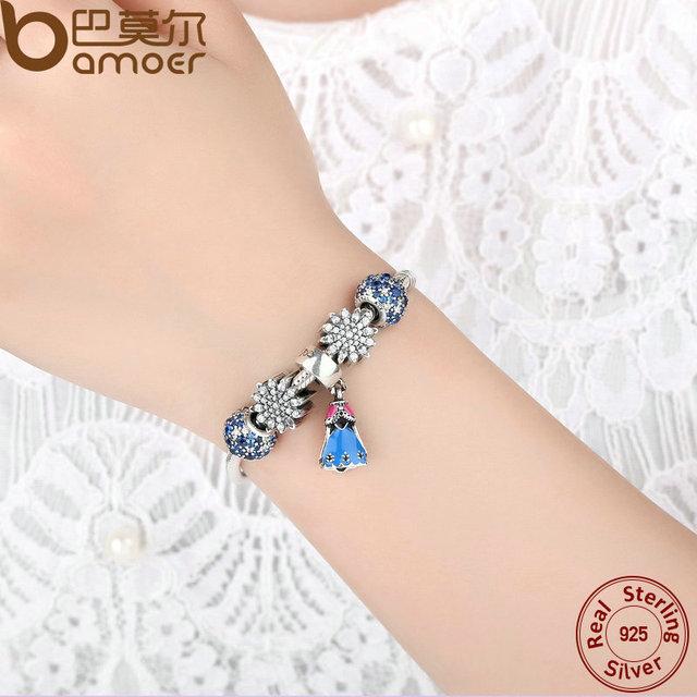 Sterling Silver Snake Safety Chain Bracelet