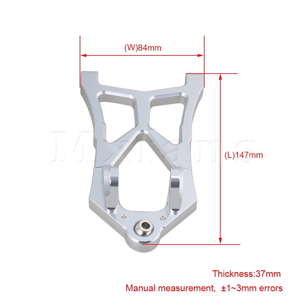 Mxfans Silver Aluminum Alloy Upgrade Parts L85400 Front Lower Suspension Arm for HPI Baja RC 1:5 Off-Road Car Pack of 2 1 pair hsp 106019 aluminum front lower suspension arm 06011 for 1 10th upgrade parts off road buggy warhead fit redcat