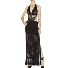 Frauen Lange Verbandkleid, Figurbetontes Kleid Bodenlangen Neueste Cocktail Party Kleid 2207 XS S M L