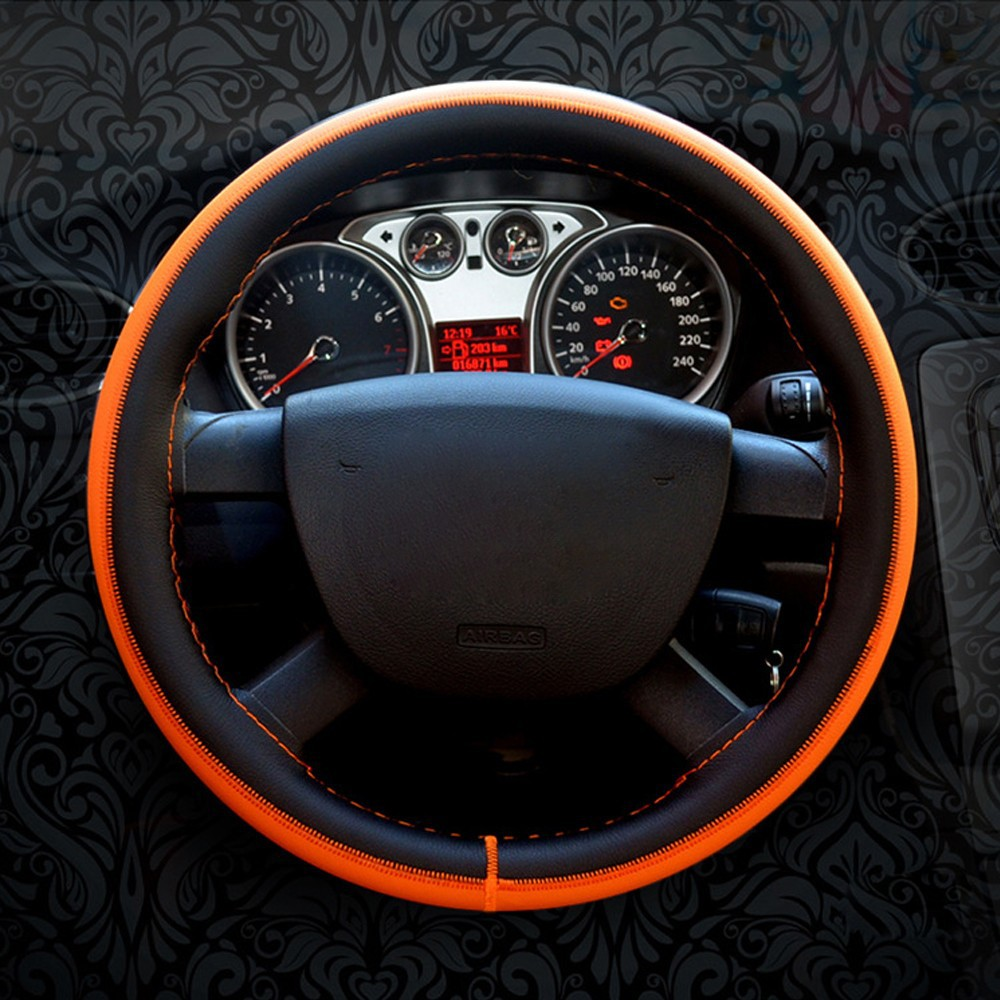 Cowhide NEW FPV Ford Performance Vehicles Genuine Leather Steering Wheel Cover